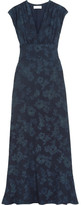 Paul & Joe Floral-jacquard Maxi Dress - Navy