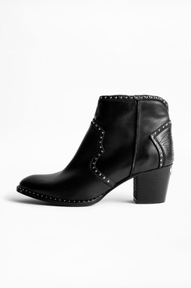 Zadig & Voltaire Molly Studs Ankle Boots