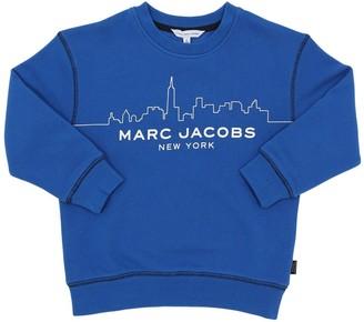 Little Marc Jacobs SKYLINE PRINTED COTTON SWEATSHIRT
