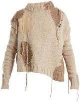 Acne Studios Ovira asymmetric patchwork wool-blend sweater