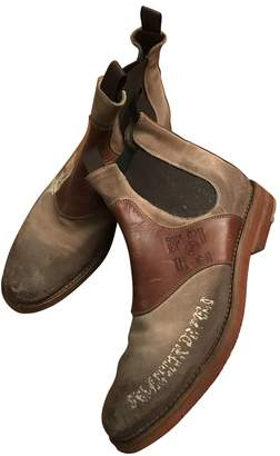 N. Non Signé / Unsigned Non Signe / Unsigned \N Camel Leather Boots