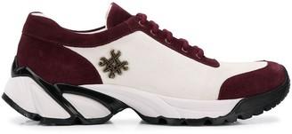Mr & Mrs Italy burgundy suede sneakers