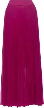 Victoria Victoria Beckham Pleated Chiffon Maxi Skirt