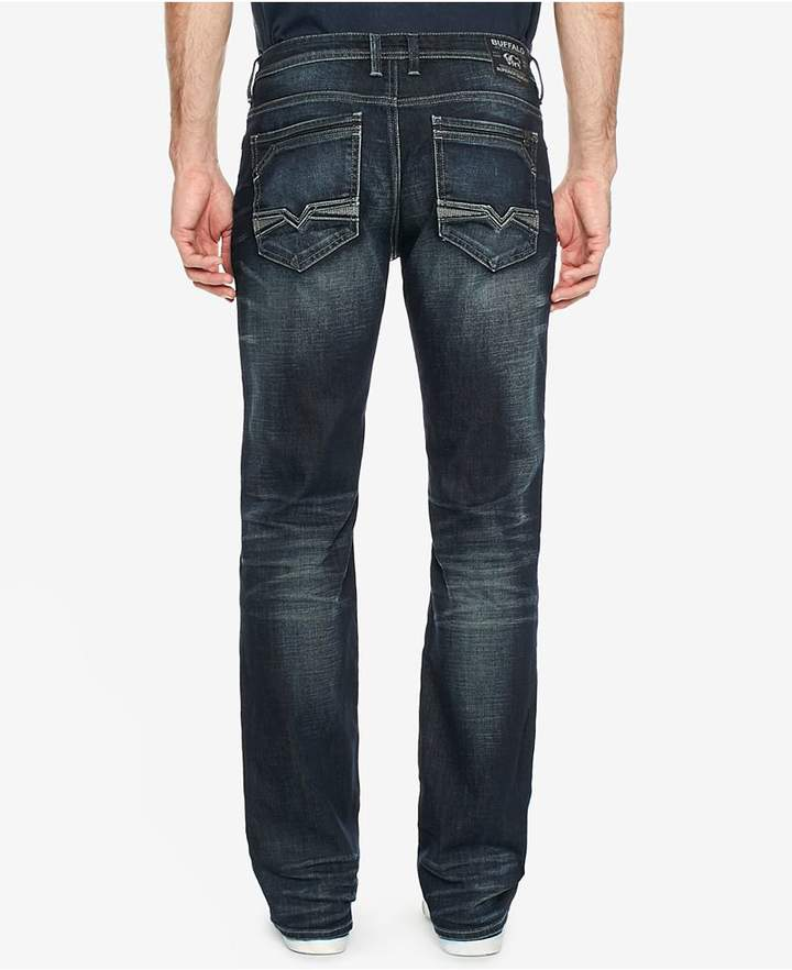 Buffalo David Bitton Men's Driven-X Indigo Relaxed Straight Fit Stretch Jeans
