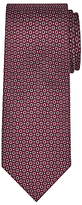 John Lewis Woven in Italy Circle Print Silk Tie, Burgundy