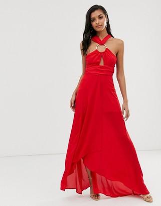 Asos Design DESIGN maxi dress with circle trim detail