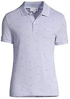 Lacoste Men's Micro Croc-Print Cotton Piqué Polo Shirt
