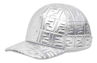 Fendi Silver Leather Hats & pull on hats