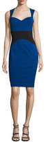 Yigal Azrouel Sleeveless Colorblock Sheath Dress, Topaz/Multi
