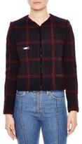 Sandro Women's Crop Tweed Jacket