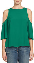 1 STATE Cold-Shoulder 3/4 Sleeve Blouse