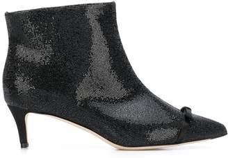 Marco De Vincenzo crystal embellished ankle boots