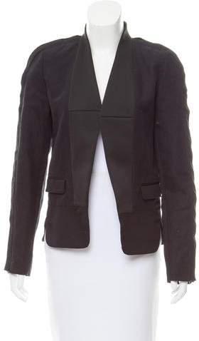 Isabel Marant Satin-Trimmed Open-Front Blazer
