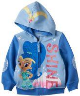 Toddler Girl Shimmer & Shine Glitter Shine Zip-Up Hoodie