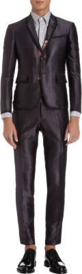 Thom Browne Satin Jacquard Two-Piece Suit