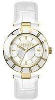 Versus By Versace Women's SP8150015 Logo Analog Display Quartz White Watch