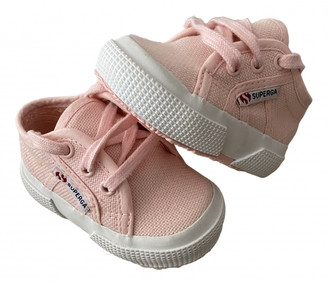 Superga Pink Cloth Trainers