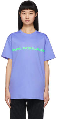 Thierry Mugler Blue Logo Oversized T-Shirt