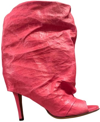 Maison Margiela Pink Leather Ankle boots