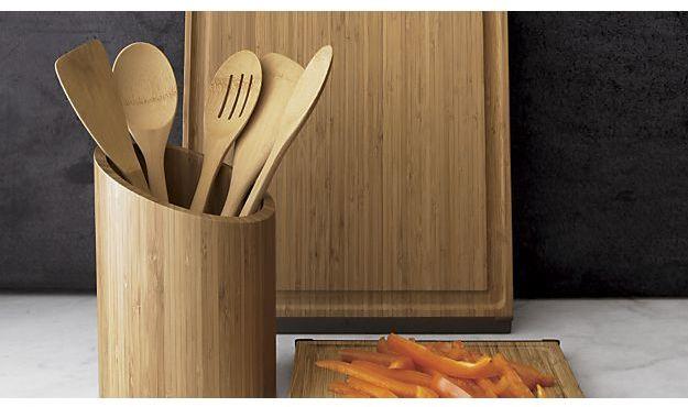Crate & Barrel 5-Piece Organic Bamboo Utensil Set