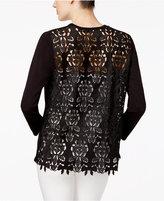 Alfani Petite Lace-Back Cardigan, Created for Macy's