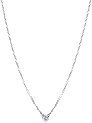 Tiffany & Co. Elsa Peretti Color by the Yard pendant in sterling silver with an aquamarine