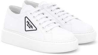 Prada Nylon lace-up sneakers