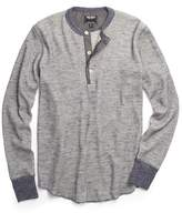 Todd Snyder Long Sleeve Thermal Henley in Navy