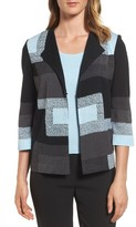 Ming Wang Women's Geometric Knit Jacket