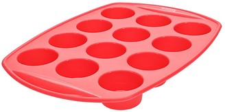 Scullery Kolori Silicone 12 Cup Muffin Tray Red