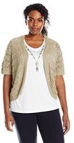 Alfred Dunner Women's Plus-Size 2-Fer Necklace Sweater