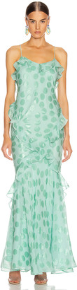 Saloni Tamara Dress in Sea Green | FWRD