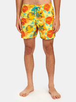 Vilebrequin Te Mana O Te Moana Mappemonde Dots Swim Trunk Shorts