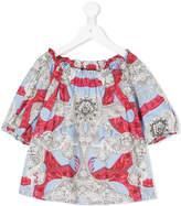 Versace baroque print blouse