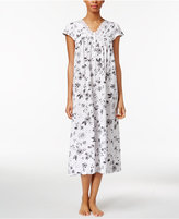 Charter Club Lace-Trimmed Cotton Knit Nightgown, Only at Macy's