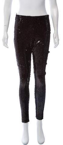 7876e6d3b5828 Black Sequin Leggings - ShopStyle