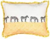 Waverly Spree Wild Life Embroidered Zebra Decorative Pillow