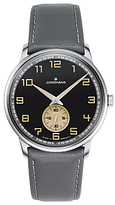 Junghans 027/3607.00 Meister Handwind Leather Strap Watch, Grey/black