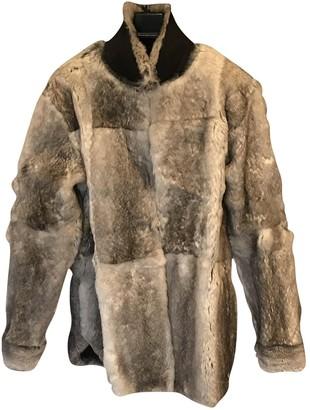 Maison Margiela Grey Fur Coats