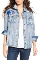 Women's Tinsel Destroyed Denim Patch Jacket