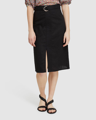 Oxford Women's Pencil skirts - Noah Linen Skirt - Size One Size, 6 at The Iconic