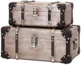 Trunks Imax Worldwide Home Baker Aluminum Clad Suitcases, 2-Piece Set