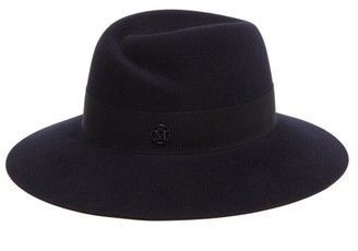 Maison Michel Virginie Waterproof Felt Fedora Hat - Navy