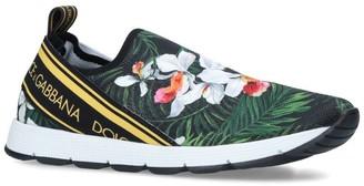 Dolce & Gabbana Kids Paul Orchid Print Slip-On Sneakers