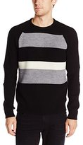 Kenneth Cole New York Kenneth Cole Men's Stripe Crew Neck Sweater