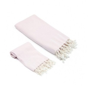 Olive and Linen Whisper Weight Turkish Bath and Hand Towel 2 Piece Set Bedding