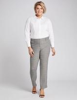Lane Bryant Allie Tailored Stretch Straight Pant - Windowpane