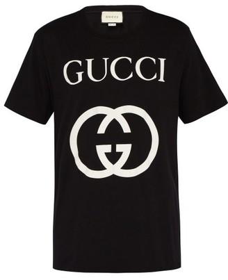 Gucci Logo-print Cotton T-shirt - Black White