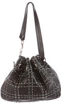 Christian Dior Metallic Top-Stitch Shoulder Bag