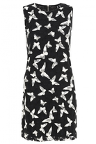 Quiz Black and White Mesh Butterfly Tunic Dress